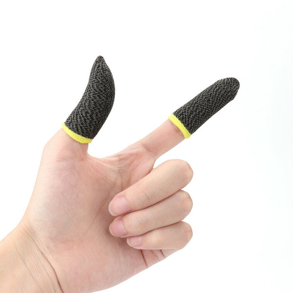 2x Breathable Game Controller Finger Cover Sweat Proof Thumb Sleeve (D)