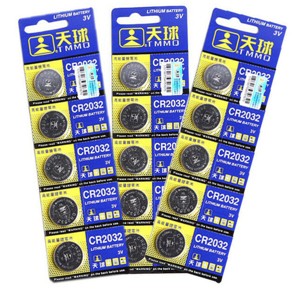 5* CR2032 DL2032 LM2032 3V Button Cell Coin Battery for Watch Remote Toys pack.