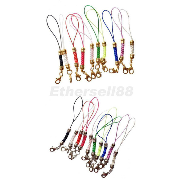 20pcs Mix-Color Mobile Cell Phone Lanyard Cords Strap Lariat Lobster Clasps