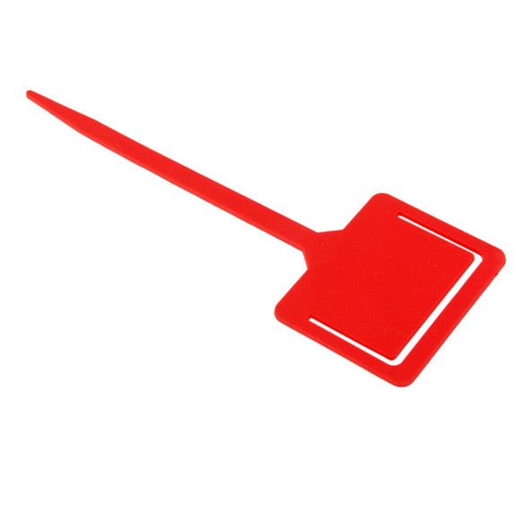 20pcs Plastic Labels Nursery Tags Plant Pot Label Tag Greenhouse Outdoor Red