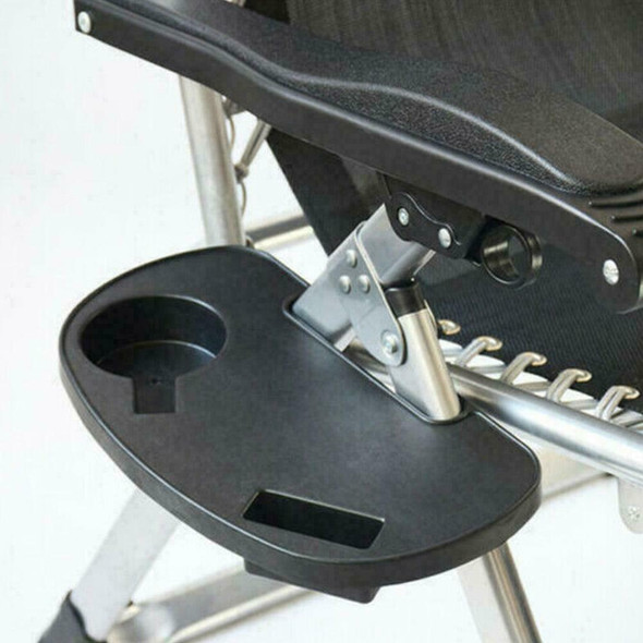 Lounger Chair Tray Side Clip Table Garden Recliner new Cup Holder J2V2