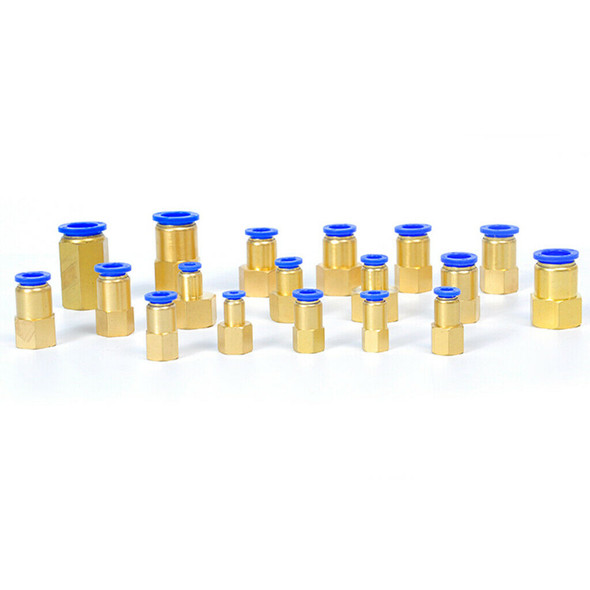 """5x Brass Female 12.7mm ID 1/4"""" NPT Thread Fitting Connector Pneumatic Joint"""