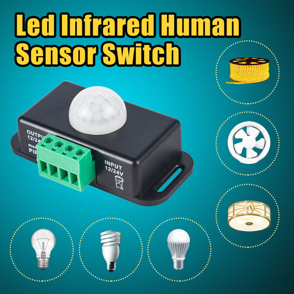 Auto ON/OFF Detector Body Infrared PIR Motion Sensor Switch For Led Light Strip)