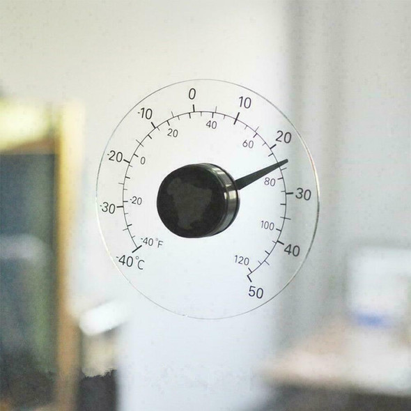 Newly ℉℃ Circular Window Outdoor Window Temperature Weather Thermometer N2F3