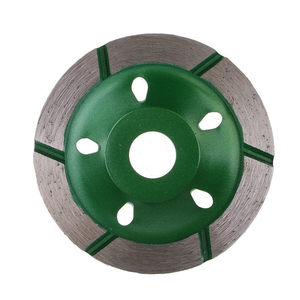 Green 80mm Diamond Grinding Cup Wheel Stone Bricks Concrete Sanding Disc