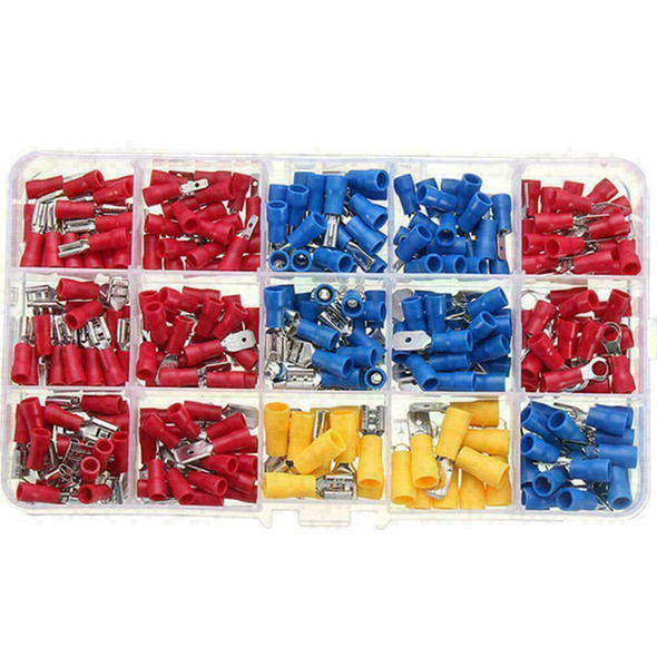 280PCS Assorted Crimp Spade Terminal Insulated Electrical A3 Connector J7Y1 Q3N7