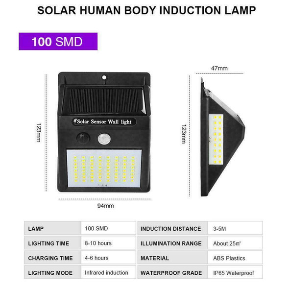 Solar Power Motion Sensor Garden Outdoor Floodlight PIR Save Light Security K0H0