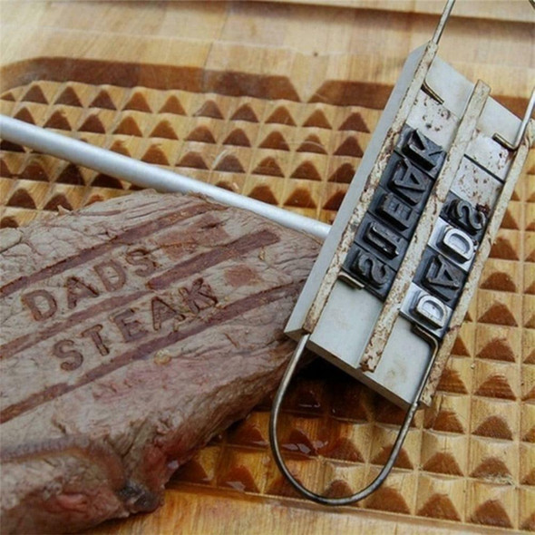 Barbeque Grill Meat Steak Branding Iron Letters BBQ Tool T5D2