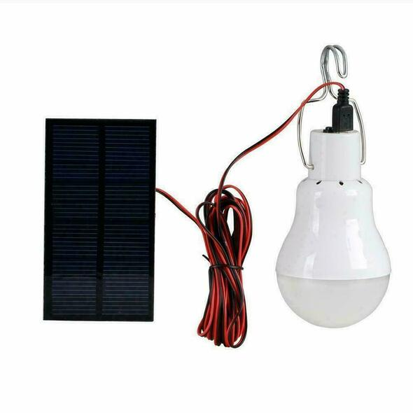 Portable Solar Power Led Bulb Lamp 130LM Solar Panel Applicable Lighting S0Z0