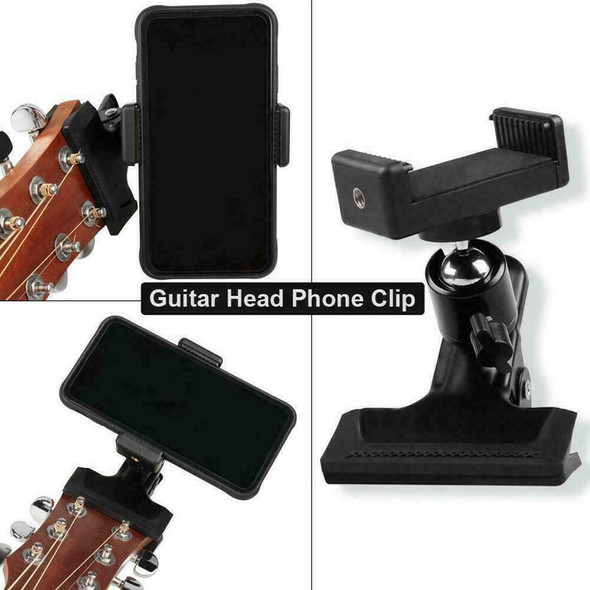 Guitar Headstock Mobile Phone Holder Bracket Stand Hot Clip Clamp Access O4M3