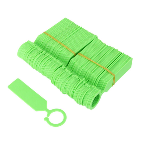 100pcs PP Tags Greenhouse Gardening Plant Ring Hanging Nursery Labels Green