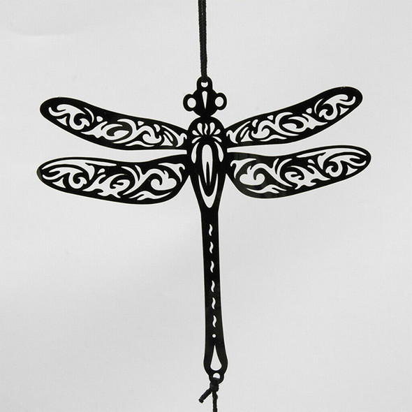 Dragonfly Stainless Steel Wind Chimes 4 Bells Wind Bell Home Balcony Decor
