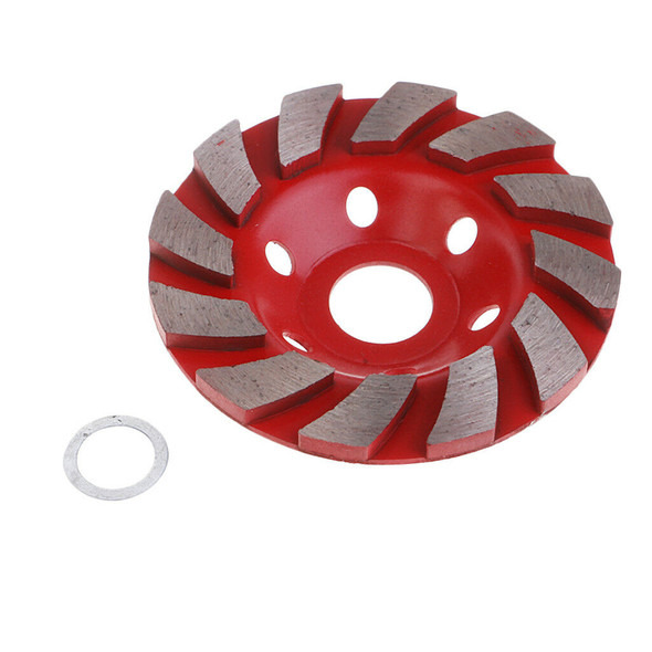 Red 100mm Diamond Grinding Cup Wheel Stone Bricks Concrete Sanding Disc