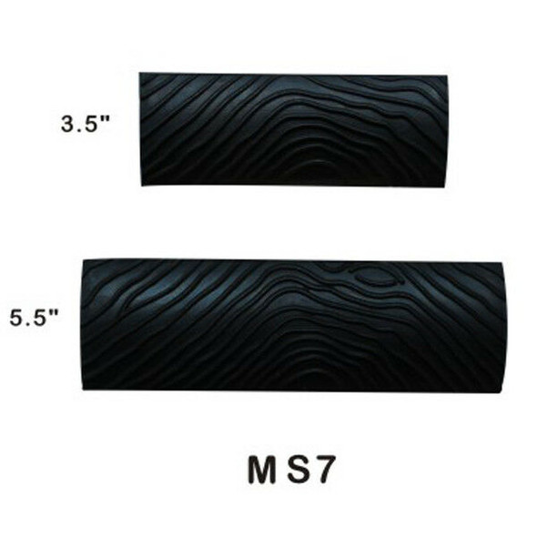 2Pcs Rubber S-shape Big Tooth Wood Grain Wall Paint Tool Decoration Home DIY