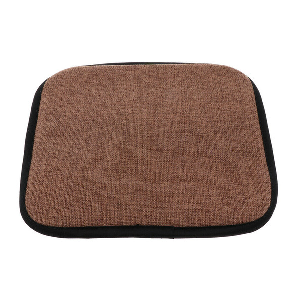 2xSquare 35cm Memory Foam Cotton Brown Home Chair Cushion Dining Chair Pads