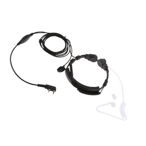 2-PIN Overhead Headphone Headset for Kenwood Puxing Baofeng w/ Boom MIC
