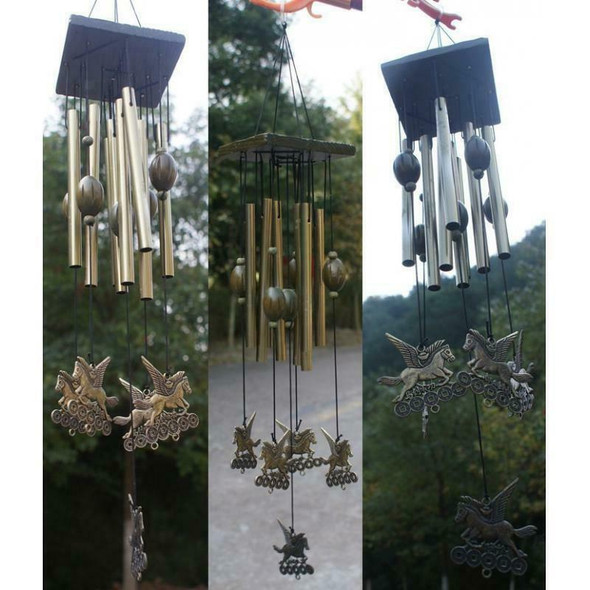65cm Hanging Wind Chimes Metal Tubes Garden Outdoor Living Decor Windbell