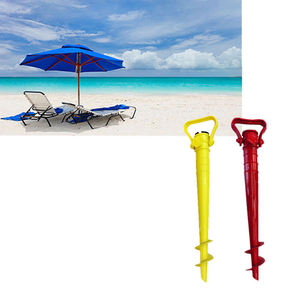 2Pcs/set Beach Garden Sun Umbrella Holder Ground Anchor Spike Stand Patio