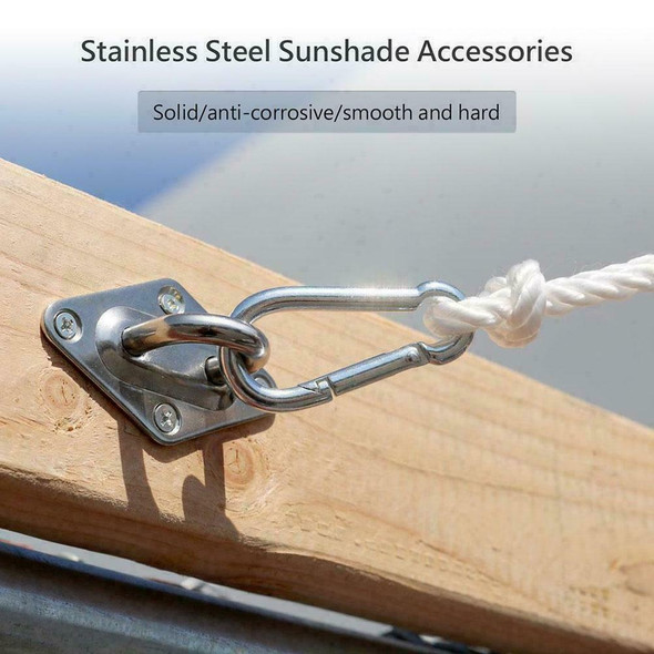 Quadrangle Sun Shade Sail Stainless Steel Hardware Installation Kit L1F1