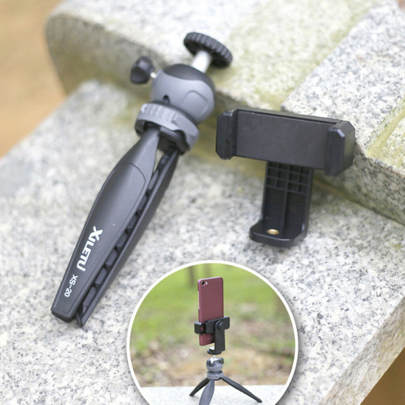 Mini Tripod with Removable Ball Head Table Top Stand for 1/4'' Screw Cameras