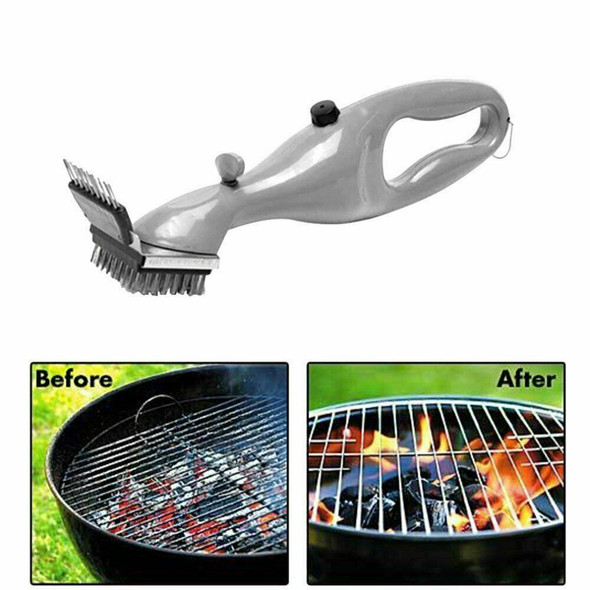 Useful Stainless Steel Grill Steam Cleaning Tool BBQ Brush UK Cleaner W6P6