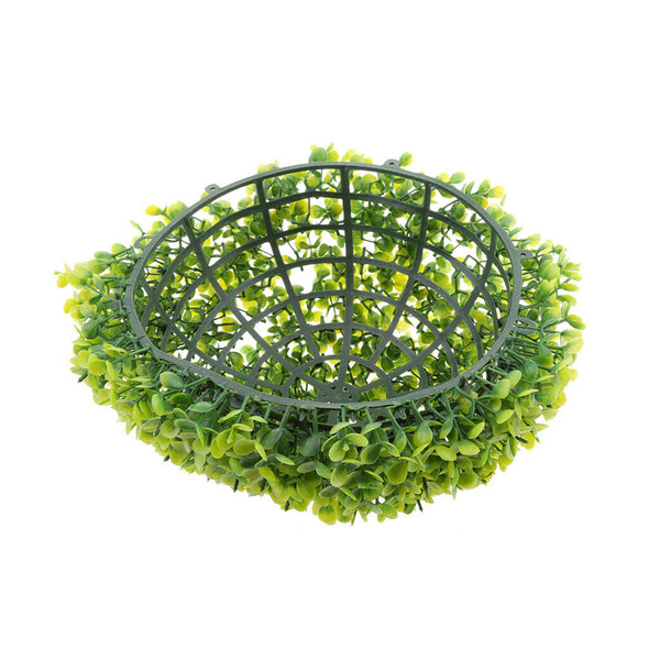 Round Artificial Faux Potted Home Decor Topiary Plants Ball Green 27cm