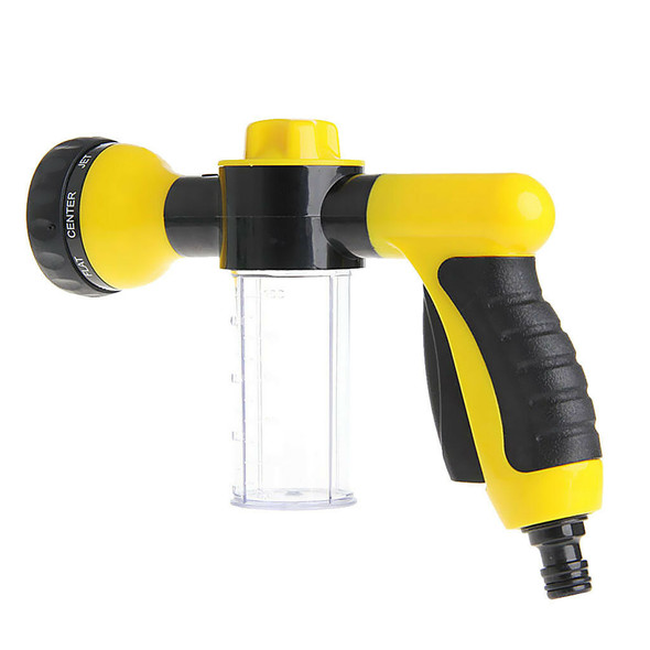 8 Function Spray Nozzle Gun Garden Hose Sprayer Water Pipe Fitting Yellow