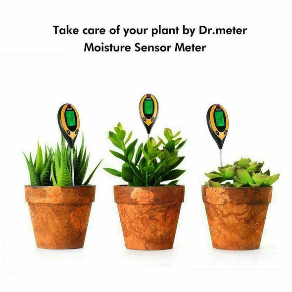 4 in1 PH Soil Tester Water Moisture Light Temp Meter PH Garden Flower Plant J2F0