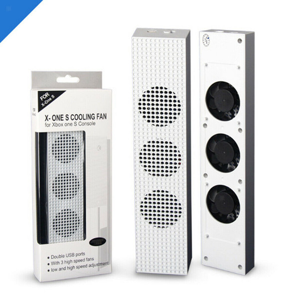 High/Low Speed Adjustable Cooling Fan 2-Port USB 3 Fans Fit for Xbox One S