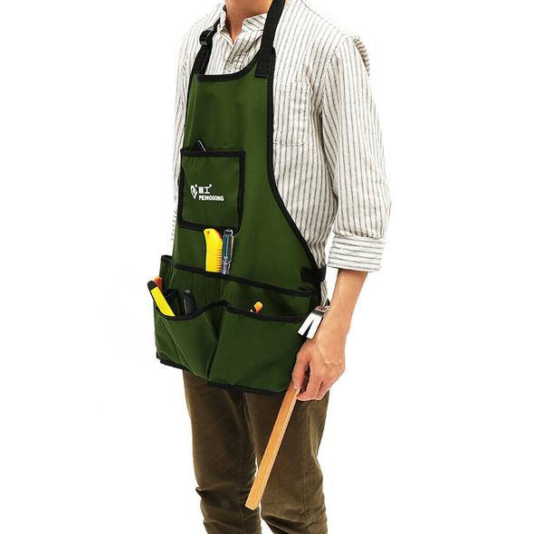 Oxford Apron Woodworkers Carpenters Gardening Tool Work Pouch Army Green