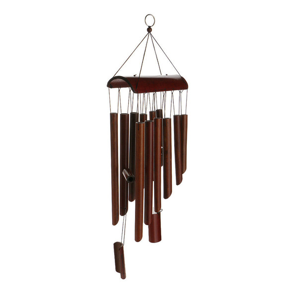 Large Bamboo 12 Tube Wind Chimes Mobile Windchime Church Bell Hanging Decor