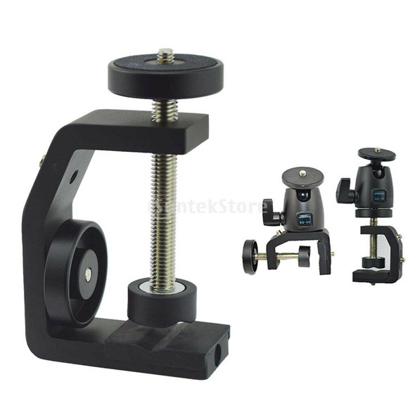 "C-clamp Clip Adjustable with 1/4"" Screw Adapter Holder Stand For Photography"