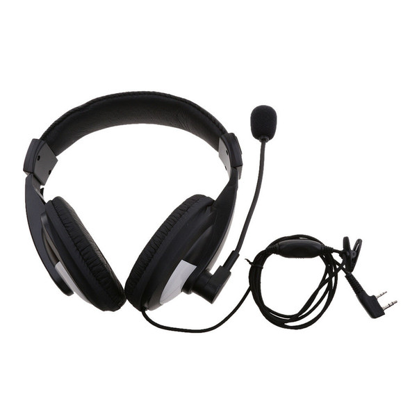 2 Pin Overhead Earpiece Headset with Mic PPT for BAOFENG Kenwood Puxing