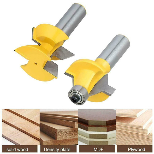 "120° Woodworking 1/2"" Shank Router Bit Set Groove Chisel Cutter Tool New"