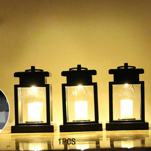 Outdoor Garden LED Candle Lamp Solar Powered Lantern Light Waterproof Hanging~