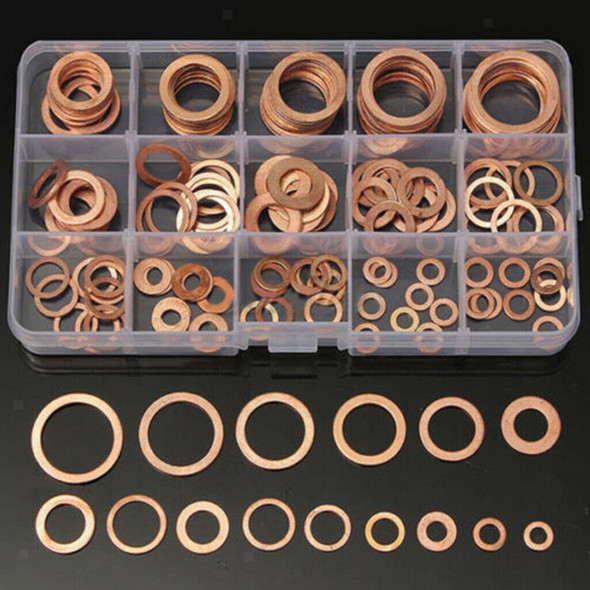 Solid Copper Washers Sump Plug Engine Washer Set M5-M22 150pcs A Box
