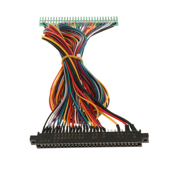 2pcs  28P JAMMA Arcade Projects Extension Cable Harness Extension Wire for