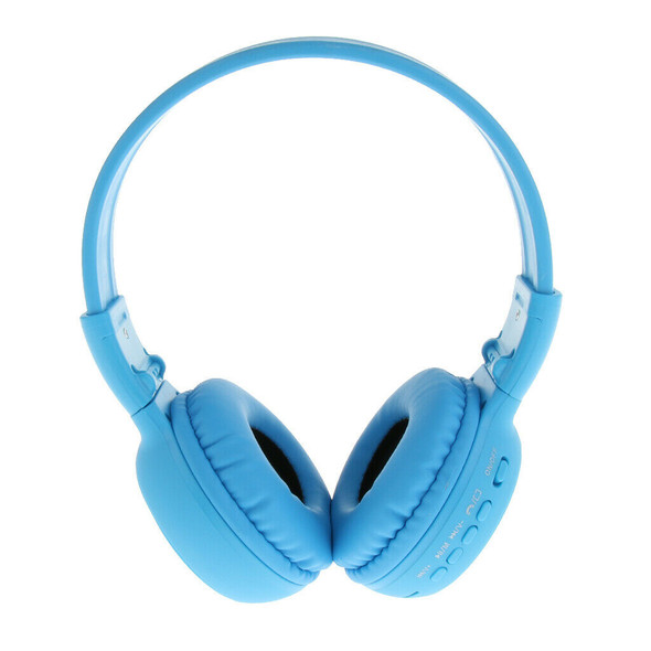 Foldable Music  Headsets w/ Wired Mode for PC/ Cell Phones Blue
