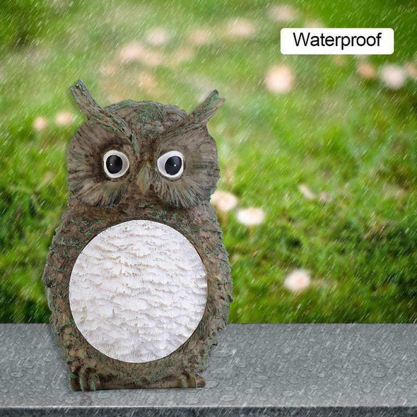 Solar Powered Decorative Garden Ornament Animal Birds Pathway Light LED Owl K0Q2