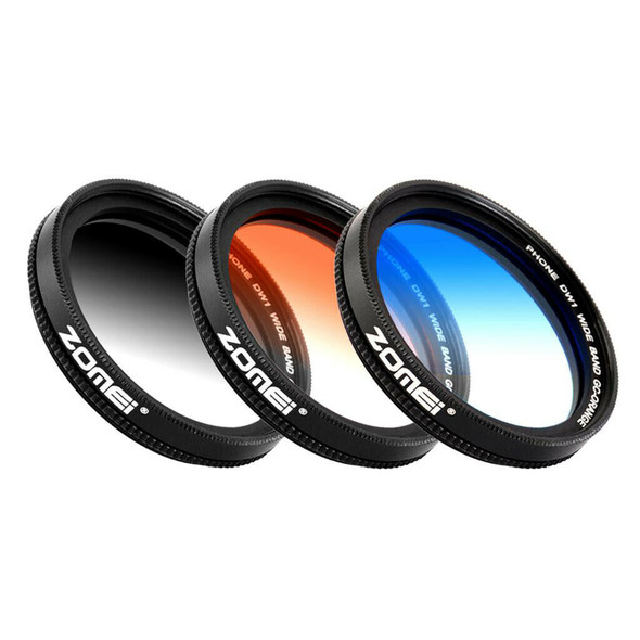37mm Graduated Lens Filter Camera Filter Kit with Clip for Mobile Tab