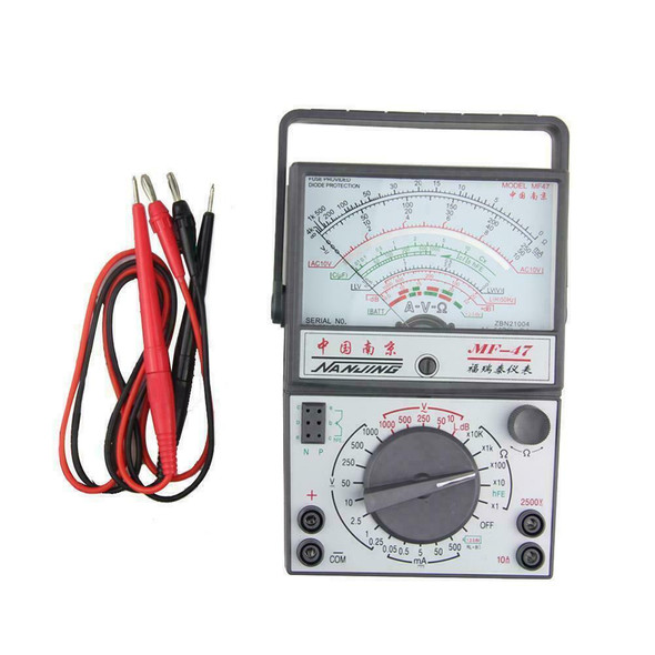MF-47 Analog Multimeter Voltmeter Ammeter Ohmmeter Battery Tester High quality