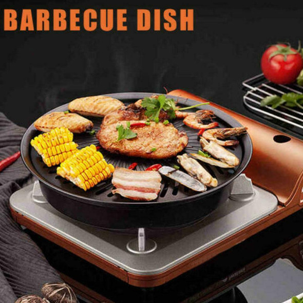 Barbecue Grill Tray Non-Stick BBQ Grill Pan Removable Portable BBQ Tool
