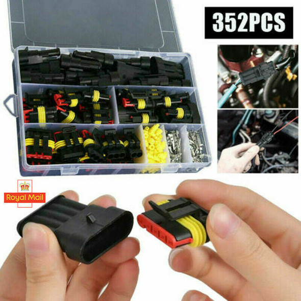 352 pcs 1/2/3/4Pin Way Super Seal Car Waterproof Electrical Wire Connector Plug