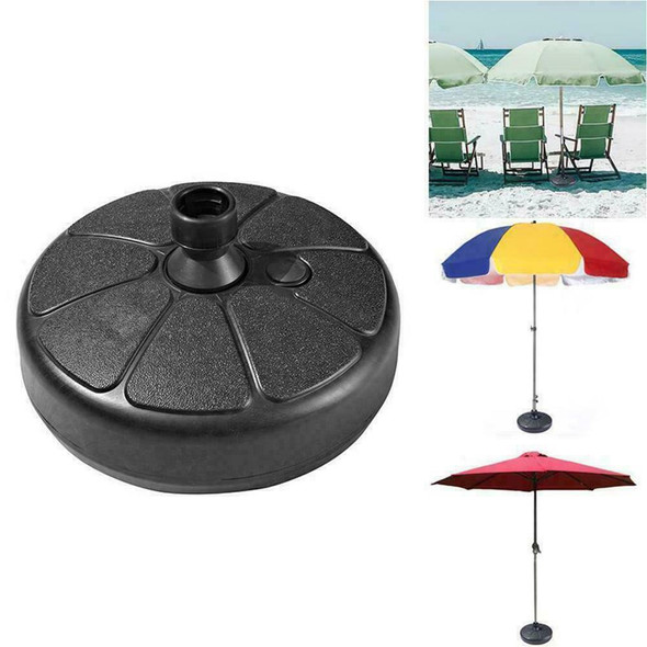 38cm Patio Umbrella Base Stand Heavy Duty Holder Outdoor Market Yard Beach J5F4