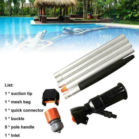 Swimming Pool Jet Vacuum With Pole Vac Suction Hoover Maintenance Clean Tub X6T0