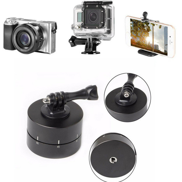 360° Panorama 2 Hours Panning Rotating Time Lapse Timer Tripod Adapter