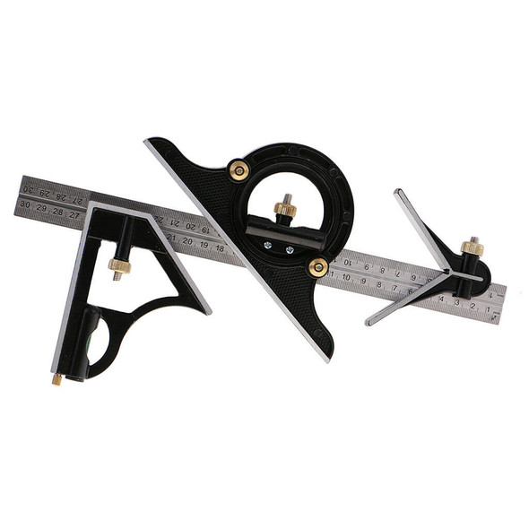 0-180 Degree Universal level protractor Combination Square Set Steel Ruler