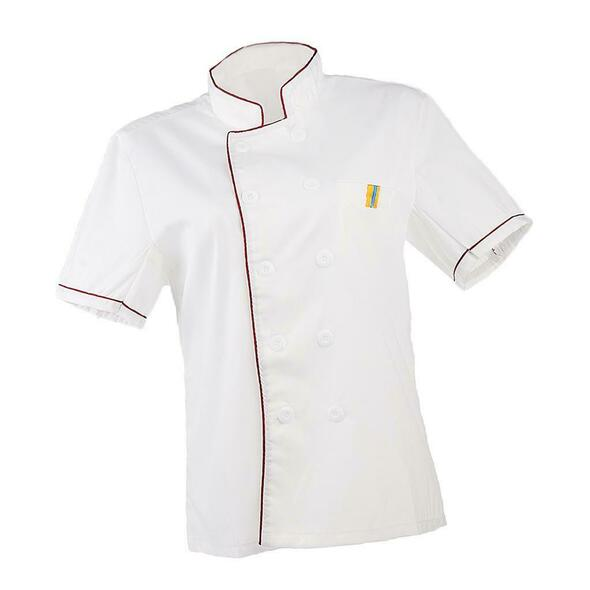 2/pack Unisex Chef Jacket Coat Short Sleeve Kitchen Uniform Double Breasted