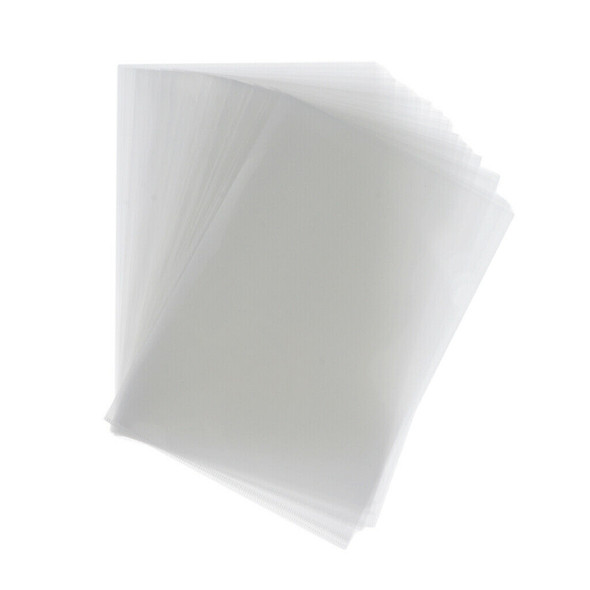 60-piece L-Type Clear Document Folder A4 Size Paper Sleeves Binder Pockets