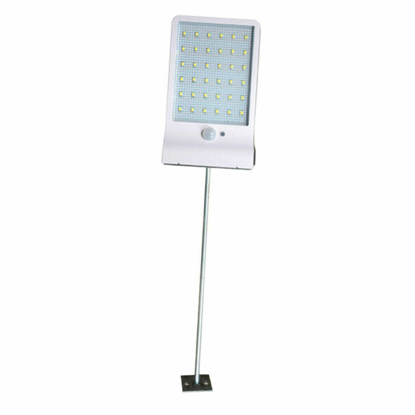 36LED Waterproof Outdoor Wall Light Motion Sensor Lamp White with pole